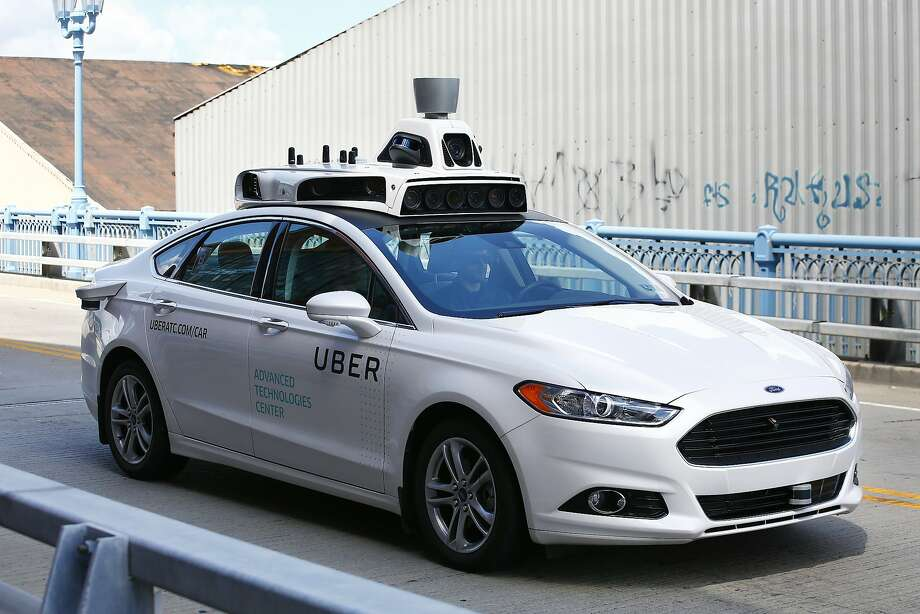 One of Uber's self-driving Ford Fusion hybrid cars in Pittsburgh. Waymo brought a lawsuit against Uber alleging theft of self-driving technology secrets in February. The judge in the case is concerned that ephemeral messaging could have destroyed documents that would have been relevant. Photo: Jared Wickerham, Associated Press