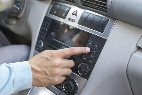 Stock image of a car radio