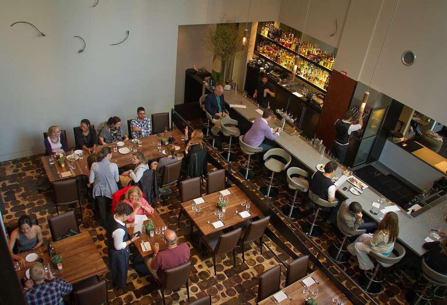 The downstairs dining room and the bar at Bluestem Brasserie in S.F. Photo: John Storey, Special To The Chronicle