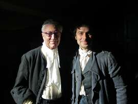 The first Poldark (Robin Ellis) and the second Poldark (Aidan Turner)