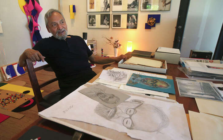 San Antonio artist Jesse Amado donated his personal papers to send to the Smithsonian, where they will become part of the Archive of American Art.