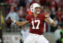 Stanford quarterback Ryan Burns throws against Kansas State during the first half of an NCAA college football game Friday, Sept. 2, 2016, in Stanford, Calif. (AP Photo/Marcio Jose Sanchez)