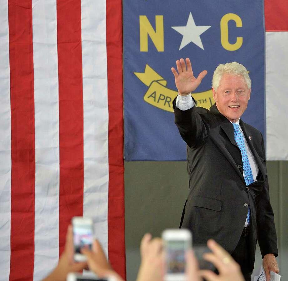 DURHAM, NC - SEPTEMBER 6:   Former U.S. President Bill Clinton waves to the audience at the Community Family Life & Recreation Center at Lyon Park on September 6, 2016 in Durham, North Carolina. Clinton spoke on wife, Democratic presidential nominee Hillary Clinton's plan for the economy.  (Photo by Sara D. Davis/Getty Images) Photo: Sara D. Davis, Stringer / 2016 Getty Images