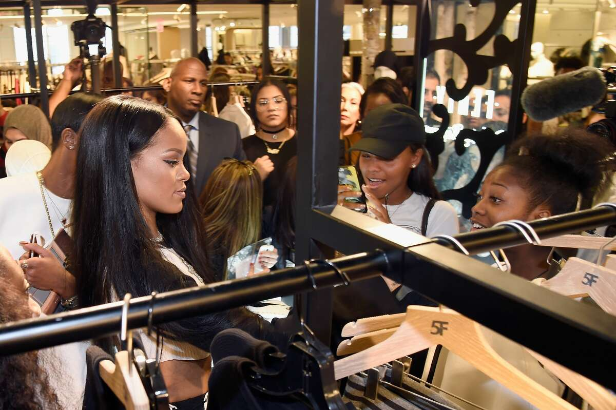 NEW YORK, NY - SEPTEMBER 06: Rihanna celebrates the launch of her collection, FENTY PUMA by Rihanna, with Bergdorf Goodman on September 6, 2016 in New York City. (Photo by Kevin Mazur/Getty Images for FENTY PUMA by Rihanna)