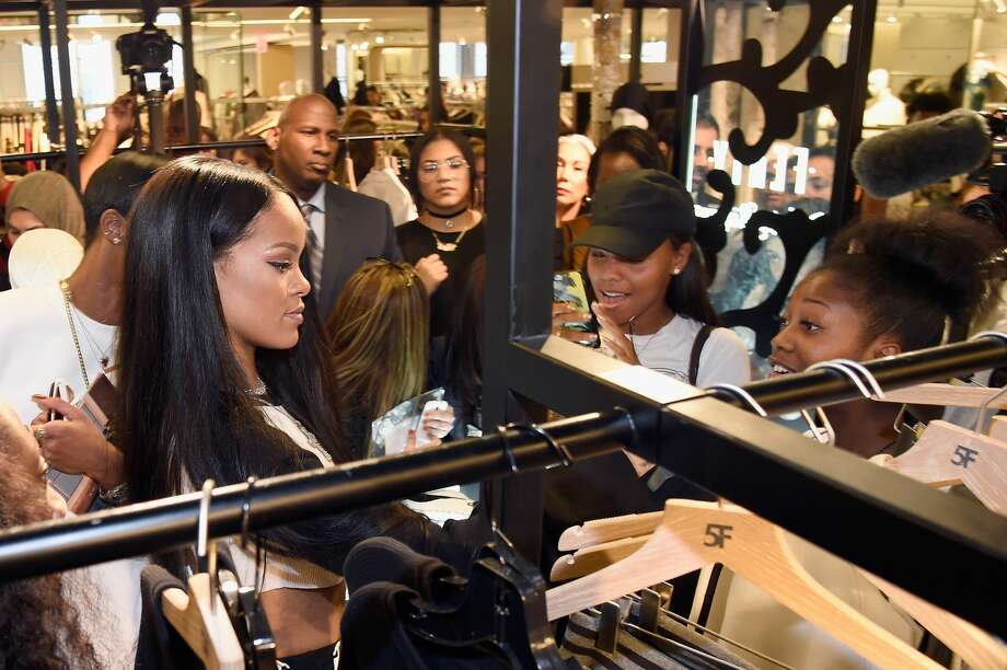 NEW YORK, NY - SEPTEMBER 06:  Rihanna celebrates the launch of her collection, FENTY PUMA by Rihanna, with Bergdorf Goodman on September 6, 2016 in New York City.  (Photo by Kevin Mazur/Getty Images for FENTY PUMA by Rihanna) Photo: Kevin Mazur/Getty Images For FENTY PUMA By Rihanna
