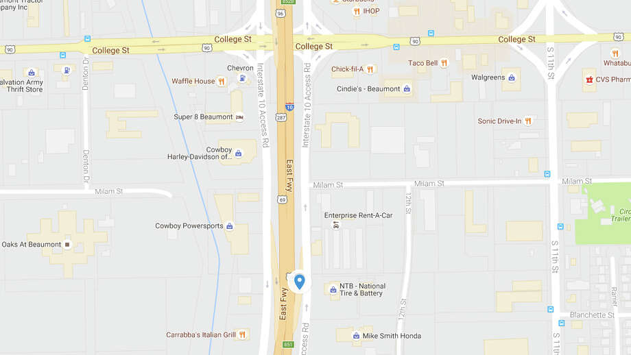 The College Street exit ramp from Interstate 10 eastbound will be temporarily closed Sept. 7, according to TxDOT. (Photo: Google Maps)