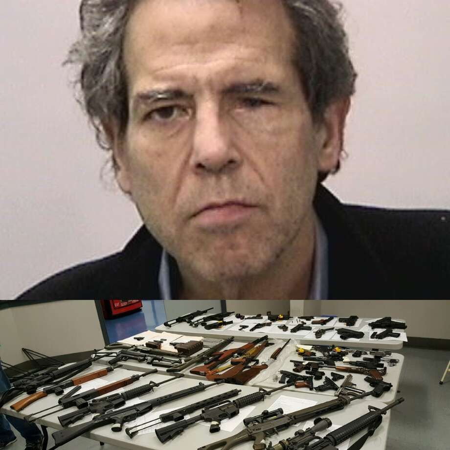 San Francisco Police seized 57 guns, including 17 semiautomatic rifles after responding to a shooting inside a home on Laguna and Green streets. Jack Dane, 63, was arrested at the home on suspicion of shooting at an inhabited dwelling. Photo: San Francisco Police Department / /