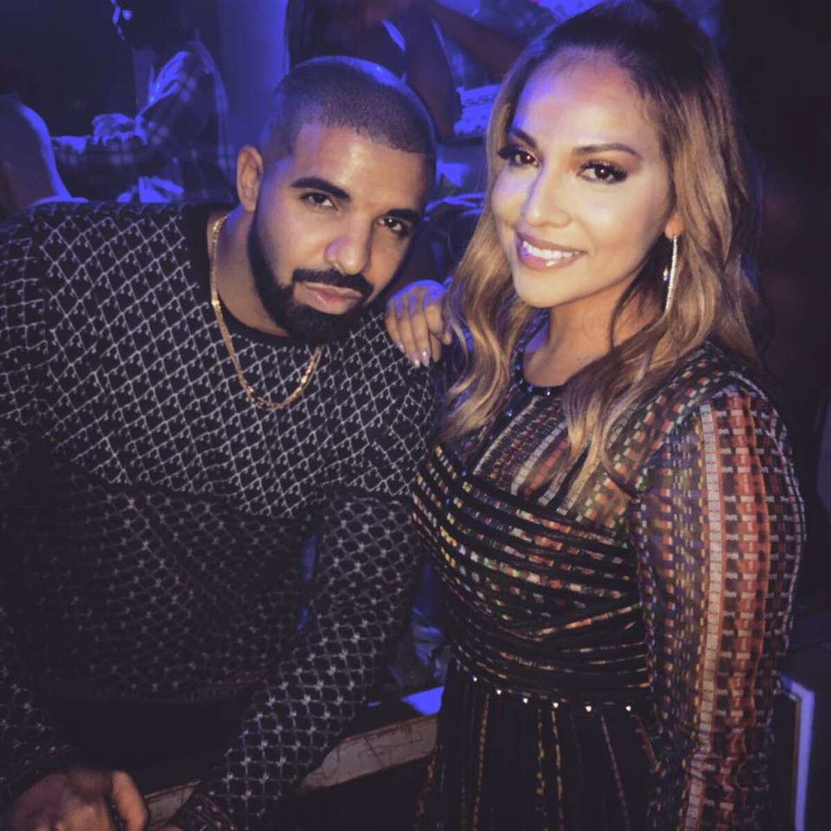 """Drake with Houston blogger Yvonne """"Spoiled Latina"""" Guidry at The Ballet."""