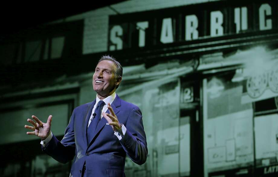 "CEO Howard Schultz said Starbucks' app is a ""treasure trove"" that can give content lots of exposure. Photo: Ted S. Warren, Associated Press"
