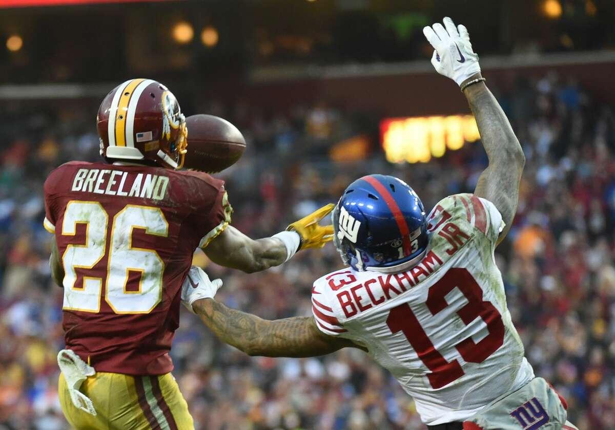 Washington at Giants: McClain - Giants Robertson - Giants Wilson - Washington Solomon - Giants Smith - Giants Creech - Giants