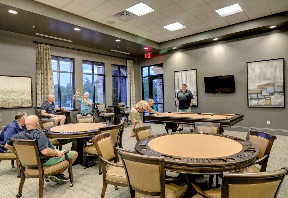 Taylor Morrison's clubhouse at Bonterra at Woodforest, the south Montgomery County community for ages 55 and up.