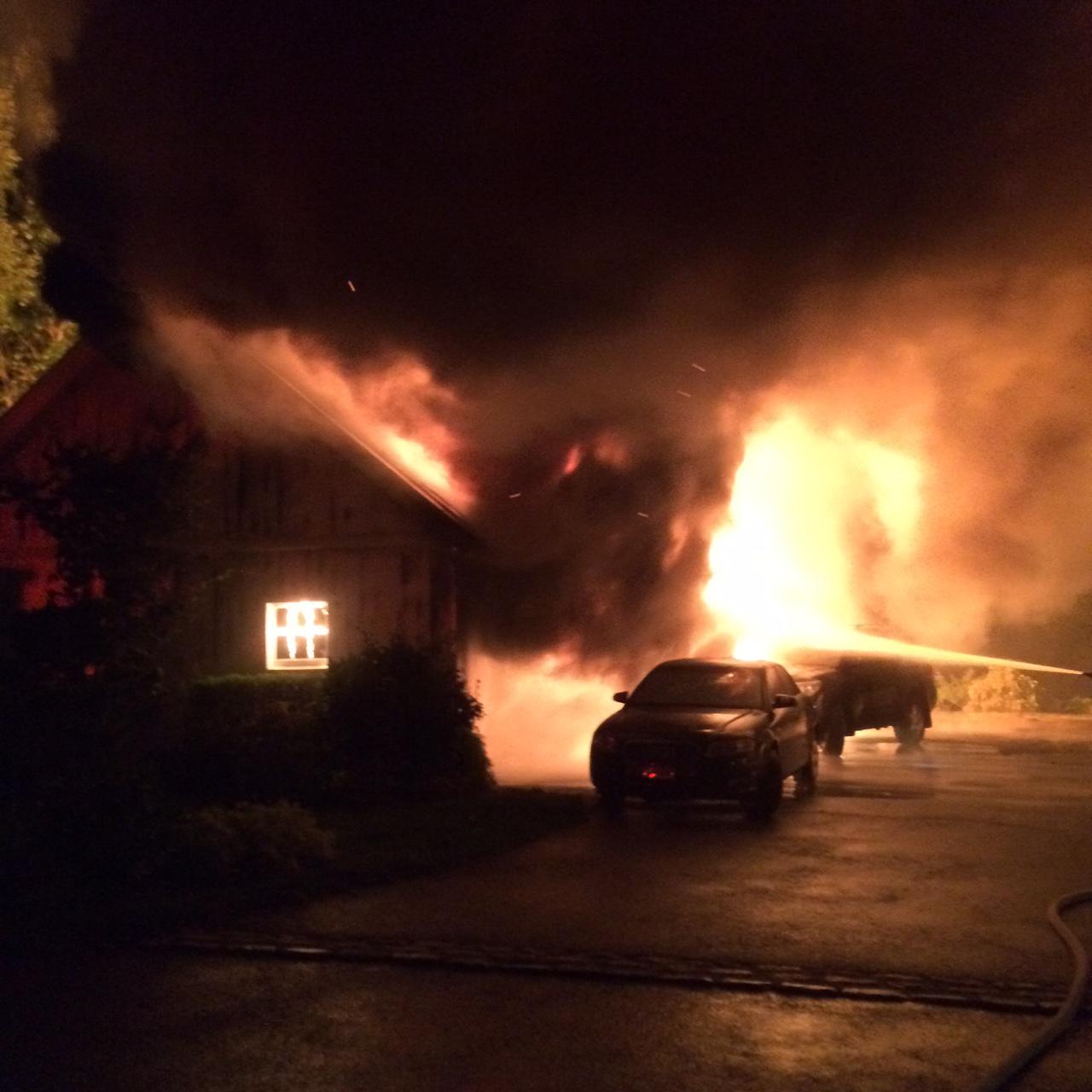 Stubborn Fire Destroys Cars Garage At Rowayton Home