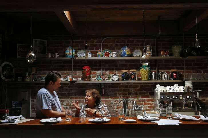 Angelo D'Alo pictured with his mother Rosa D'Alo in his new restaurant AgroDolce Sept. 6, 2016 in Berkeley, Calif.