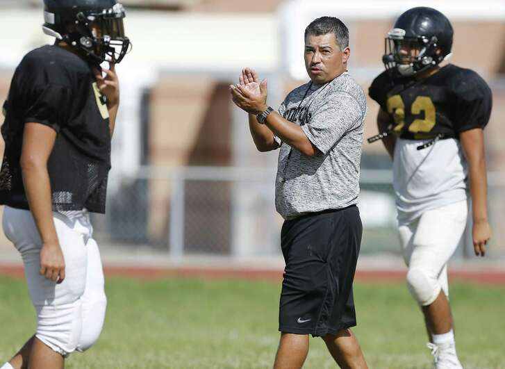 Under head coach Albert Torres (center), Edison has started the 2016 season on a positive note with two consecutive wins. The Golden Bears have aspirations of winning District 28-5A title.