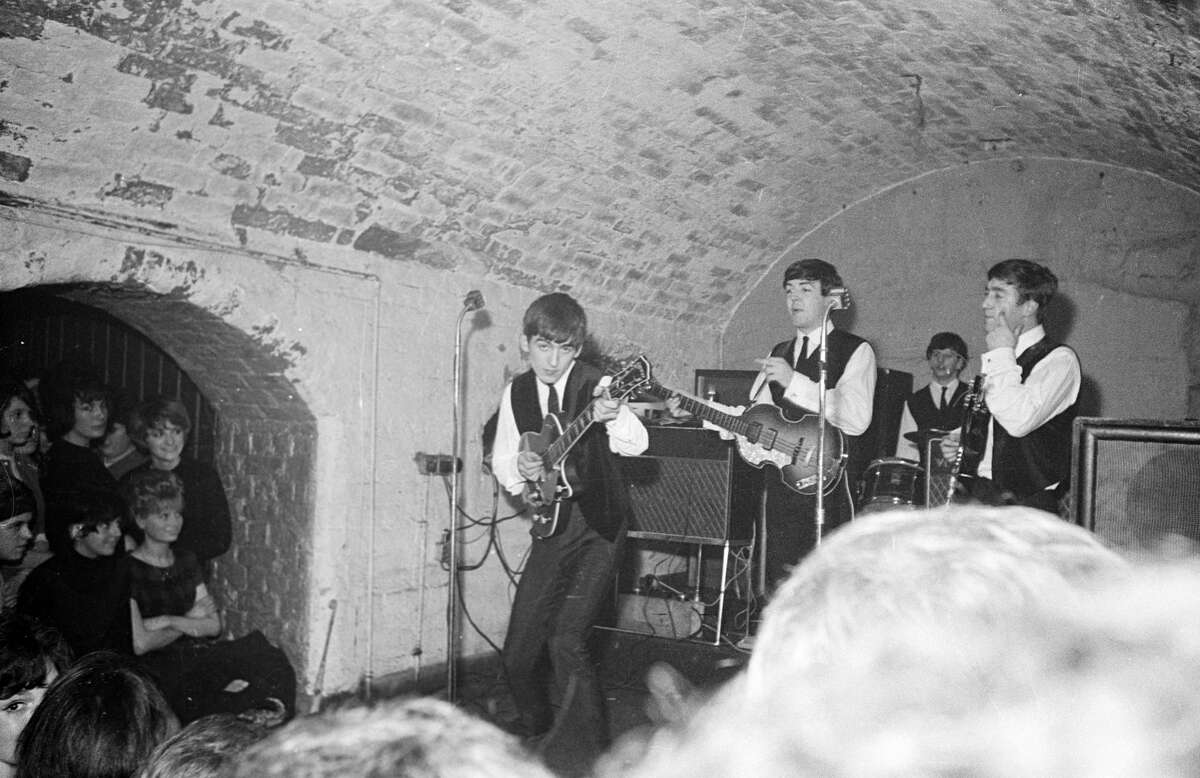 Playing at The Cavern in Liverpool, England.