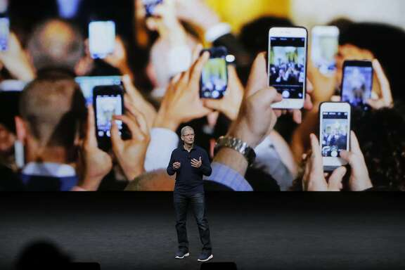 Apple CEO Tim Cook speaks during an Apple Event to announce new products at the Bill Graham Civic Auditorium in San Francisco, Calif., on Wednesday, September 7, 2016.