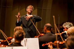 "Music director Paul Goodwin leads an open rehearsal of Mozart's ""The Magic Flute"" for the 2012 Carmel Bach Festival"