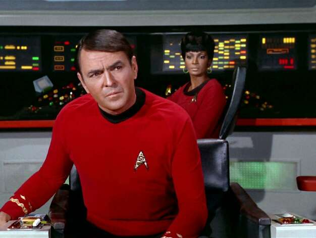"Montgomery ""Scotty"" Scott, chief engineer of the Starship Enterprise, was forever warning Capt. Kirk that ""the engines cannae take much more of this."" Or else he was fooling around with his dilithium crystals to tweak the warp drive. He was played by James Doohan, a Canadian like William Shatner. Photo: Getty Images, CBS Via Getty Images"