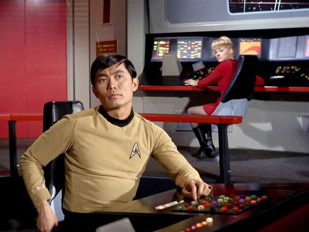 George Takei played Helmsman Sulu. Takei is one of several cast members who said working with Shatner was difficult. Photo: Getty Images, CBS Via Getty Images