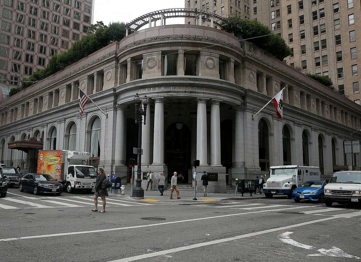 A corner view of the Wells Fargo building at 1 Montgomery on Thursday, September 1, 2016, in San Francisco, Calif.