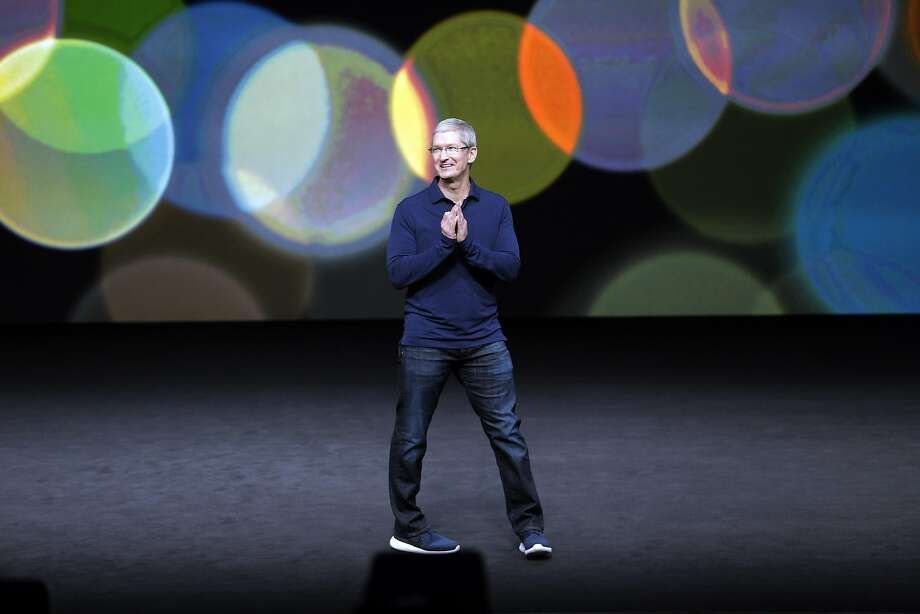 Apple CEO Tim Cook speaks during an Apple Event to announce new products at the Bill Graham Civic Auditorium in San Francisco, Calif., on Wednesday, September 7, 2016. Photo: Carlos Avila Gonzalez, The Chronicle