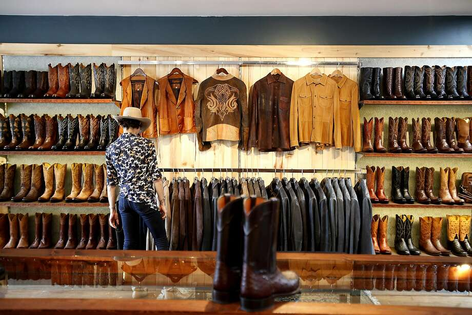 The men's side of the store at Burns Cowboy Shop in Carmel-by-the-Sea. Photo: Sarah Rice