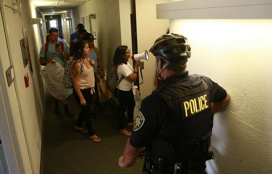 UC Berkeley police are being tight-lipped about the security arrangements for Milo Yiannopoulos' Berkeley appearance. Photo: Michael Macor, The Chronicle