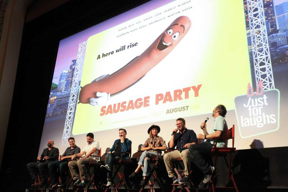 MONTREAL, QC - JULY 30: Conrad Vernon, Kyle Hunter, Greg Teirnan, Kristen Wiig, Seth Rogen and Judd Apatow attend the 2016 Just For Laughs Comedy Festival screening of Sausage Party held at Imperial Cinema, Montreal on July 29, 2016 in Montreal, Canada.  (Photo by GP Images/WireImage) Photo: GP Images/WireImage