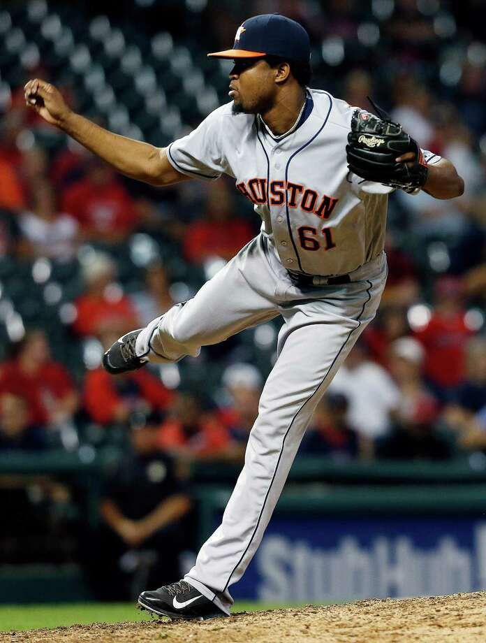 After Thursday night's 8-6 exhibition win over the Cubs, the Astros chose reliever Jandel Gustave to occupy the final spot on their season-opening 25-man roster. Photo: Ron Schwane, Associated Press / AP 2016