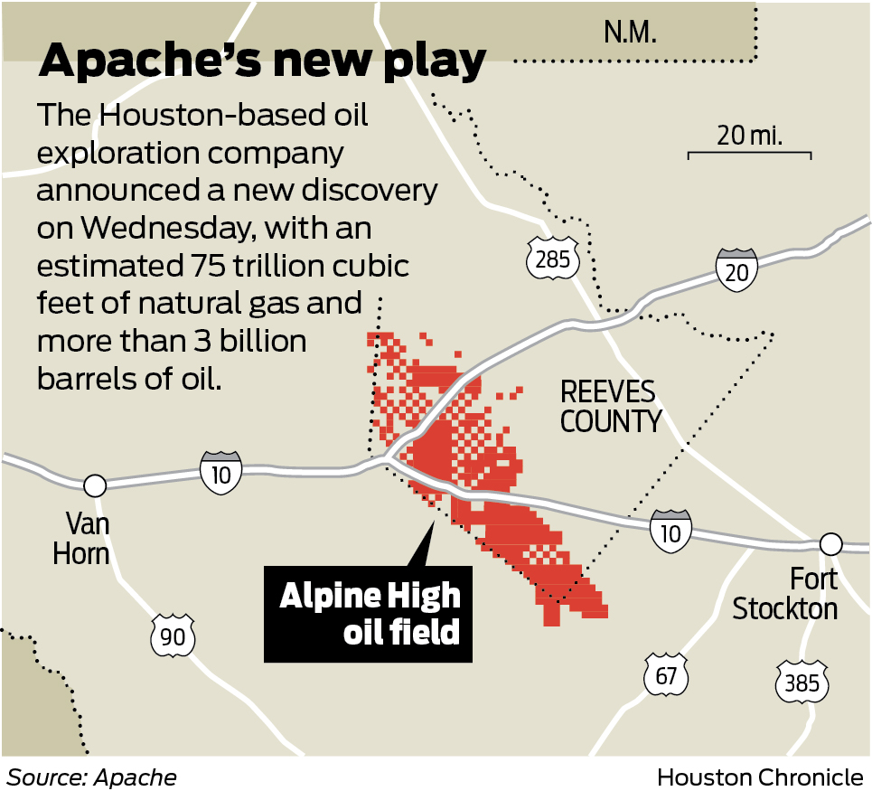 Alpine High Oil Field Map Texas Apache discovers 3 billion barrels of oil in West Texas