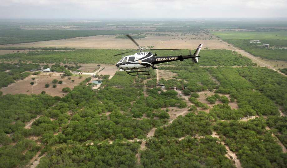 Bryan Aldana was sentenced to prison for aiming a laser pointer at an Airbus AS350.  The photo shows the same type of aircraft that was involved in the incident.  Photo: Bob Owen, STAFF / © 2012 San Antonio Express-News