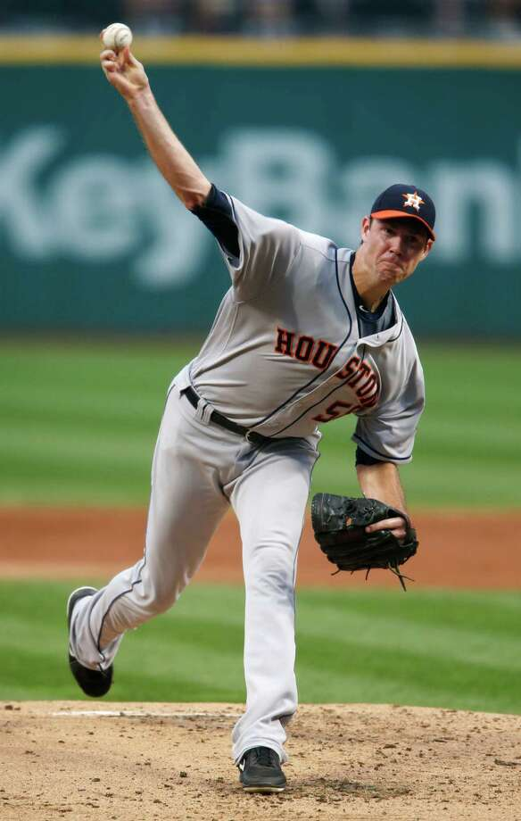 Houston Astros starting pitcher Doug Fister delivers against the Cleveland Indians during the first inning of a baseball game Wednesday, Sept. 7, 2016, in Cleveland. (AP Photo/Ron Schwane) Photo: Ron Schwane, Associated Press / AP 2016