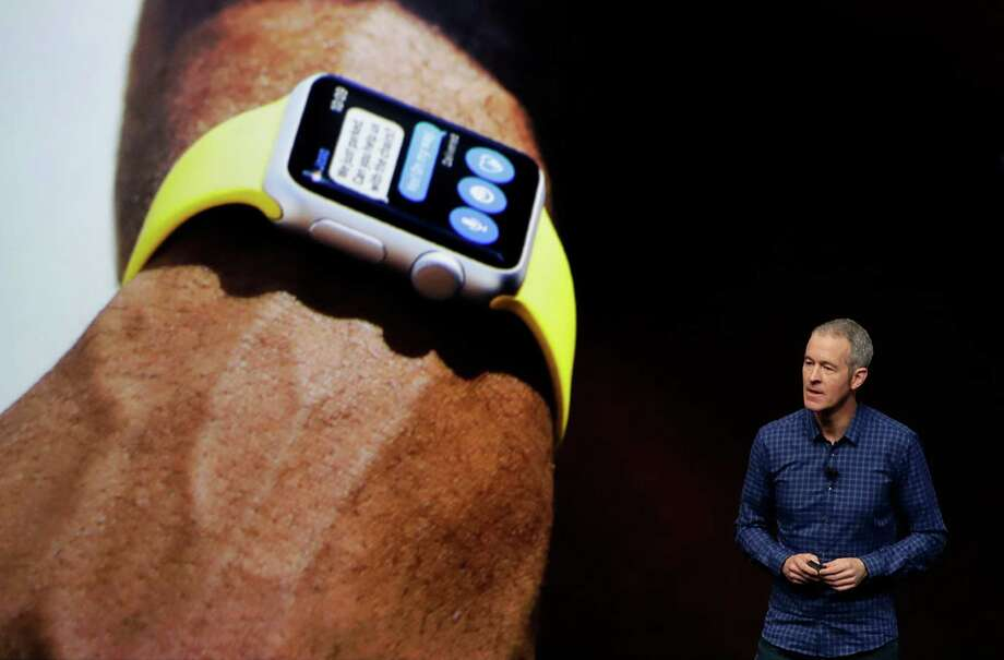 Jeff Williams, Apple's chief operating officer, talks about the Apple Watch. The Series 2 water-resistant edition no long includes a $17,000 gold version. Photo: Marcio Jose Sanchez, STF / Copyright 2016 The Associated Press. All rights reserved.