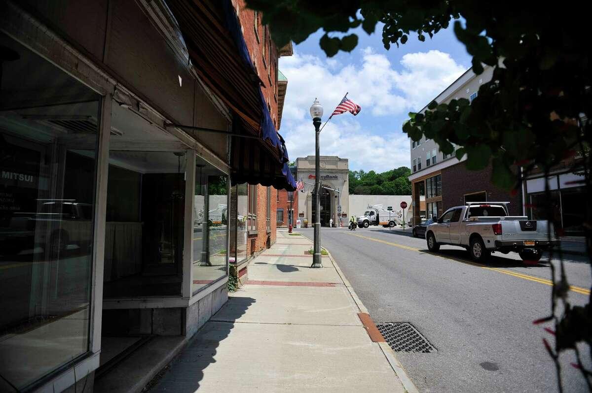 A view looking up John Street on Tuesday, June 28, 2016, in Hoosick Falls, N.Y. (Paul Buckowski / Times Union)