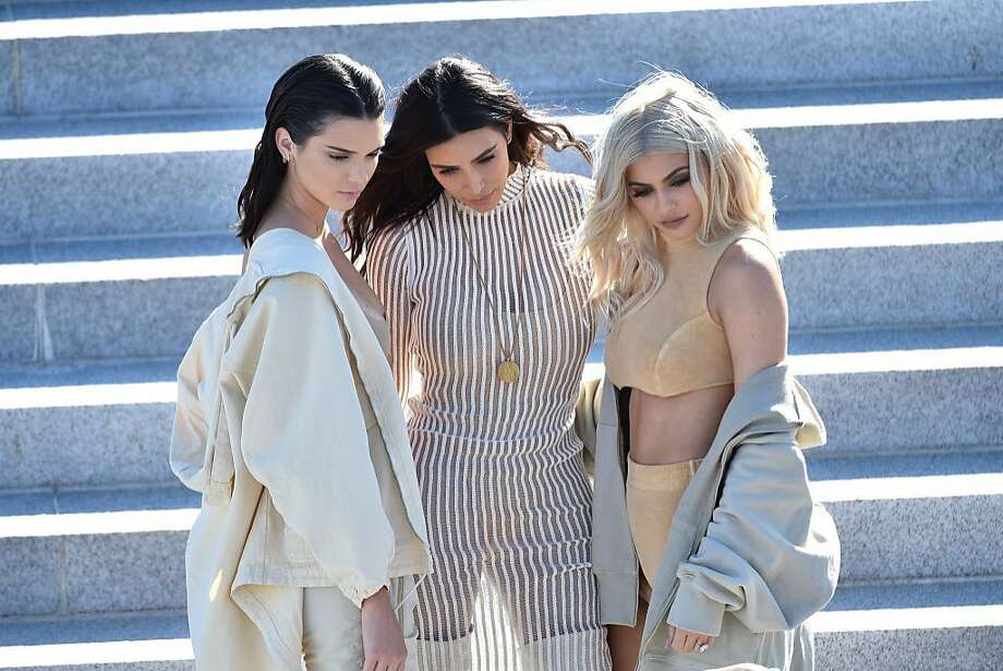 Kendall Jenner, Kim Kardashian and Kylie Jenner attend the Kanye West Yeezy Season 4 fashion show on September 7, 2016 in New York City.  Photo: Bryan Bedder, Getty Images For Yeezy Season 4