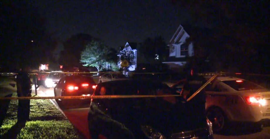 Harris County sheriff's deputies wounded three suspects in a gunfight about 10:30 p.m. Wednesday, Sept. 8, 2016, during a home invasion at a residence in the 6400 block of Founding in Katy. (Metro Video)
