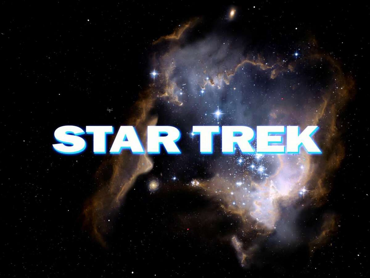 """Opening credit for the STAR TREK: The Original Series episode, """"The Cage."""" This is the pilot episode completed early 1965, but not broadcast until October 4, 1988. Image is a screen grab. (Photo by CBS via Getty Images)"""