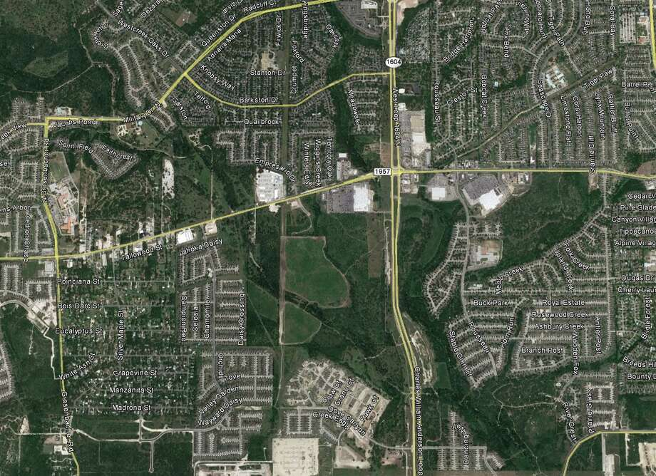 Local developer Paul Blackburn of Blackburn Properties of Texas has bought 200 acres of vacant land next to a Walmart Supercenter along Loop 1604 on the far West Side. Photo: Google Earth