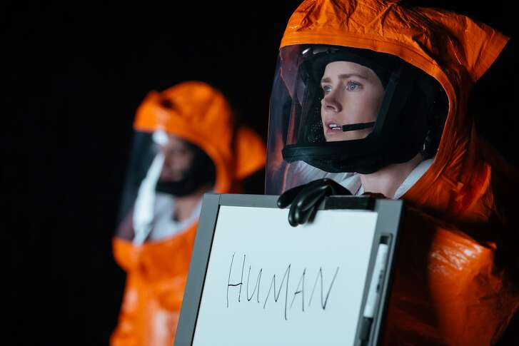 """An undated photo provided by Paramount Pictures shows Amy Adams, right, as Louise Banks in """"Arrival"""" by Paramount Pictures. (Jan Thijs/Paramount Pictures via AP)"""