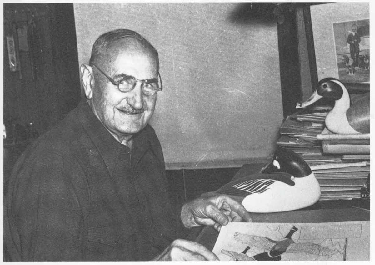 """Charkes """"Shang'' Wheeler is shown in his studio in the 1930s. The longtime Stratford resident is one of the inductees into the Milford Hall of Fame."""