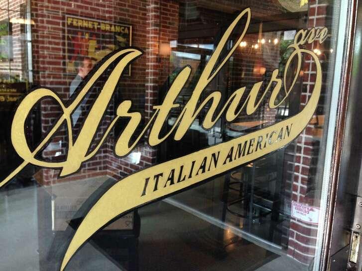 The door to Arthur Ave Italian American restaurant, 1111 Studewood, opening July 29.