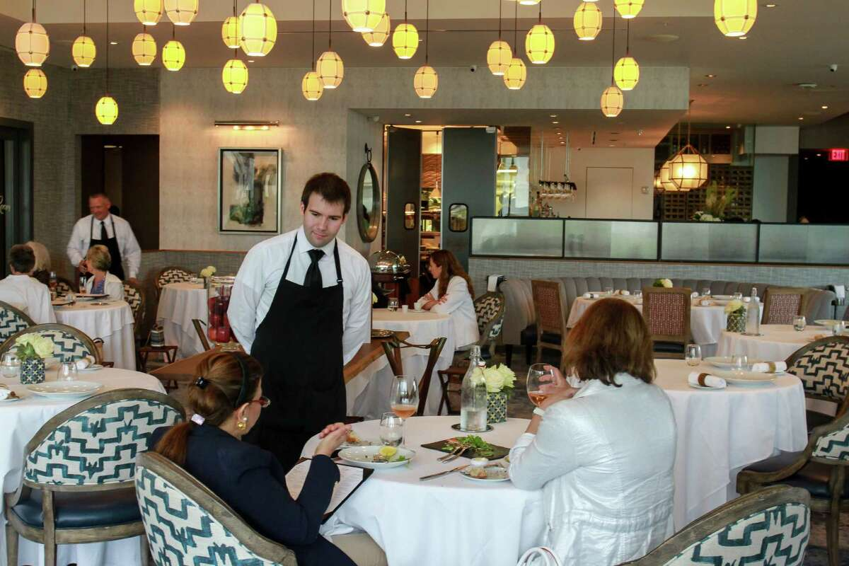 La Table ,1800 Post Oak Blvd #6110 Phone: 713-439-1000 Hours: 11 a.m. to 8 p.m. The French cuisine, Galleria-area restaurant welcomes guests fora family-style dinner menufor $95 per adult and $45 per child (ages 5-12). Some dishes include anorganic turkey served with madeira gravy, wild mushroom brioche stuffing, honey-roasted sweet potatoes and other seasonal side dishes.