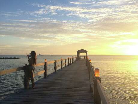 Sunset on the pier, Four Season Resort Nevis