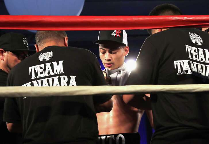 """San Antonio boxer Hector Tanajara Jr. attends B. Riley & Co. and Sugar Ray Leonard Foundation's 7th Annual """"Big Fighters, Big Cause"""" Charity Boxing Night at Dolby Theatre on May 25, 2016 in Hollywood, California."""