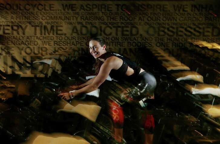 SoulCycle instructor Chanelle Lagace is one of the instructors at the new SoulCycle location in River Oaks, Wednesday, June 1, 2016, in Houston. ( Mark Mulligan / Houston Chronicle )