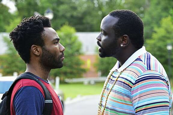 "ATLANTA -- ""The Big Bang"" --  Episode 101 (Airs Tuesday, September 6, 10:00 pm e/p) Pictured: (l-r) Donald Glover as Earnest Marks, Brian Tyree Henry as Alfred Miles. CR: Guy D'Alema/FX"