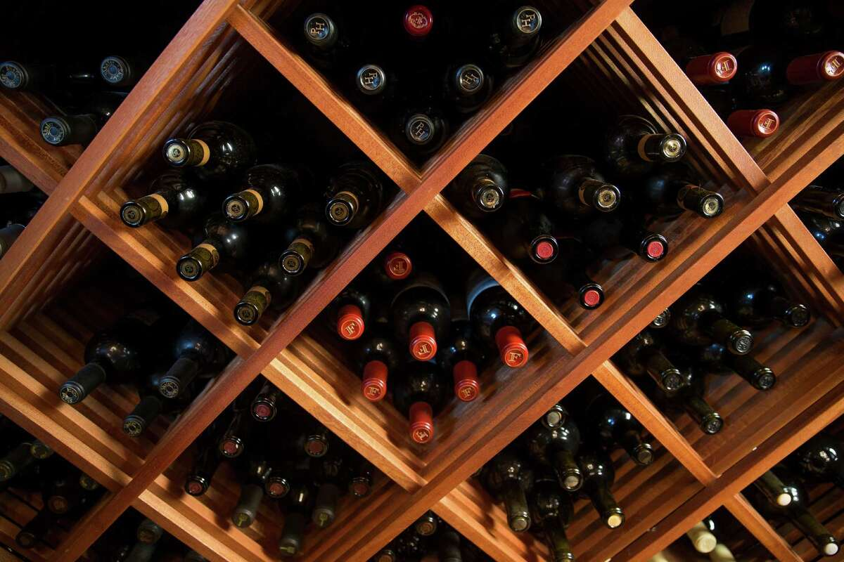 A wine room in a Bellaire home Wednesday, July 27, 2016 in Houston.( Michael Ciaglo / Houston Chronicle )