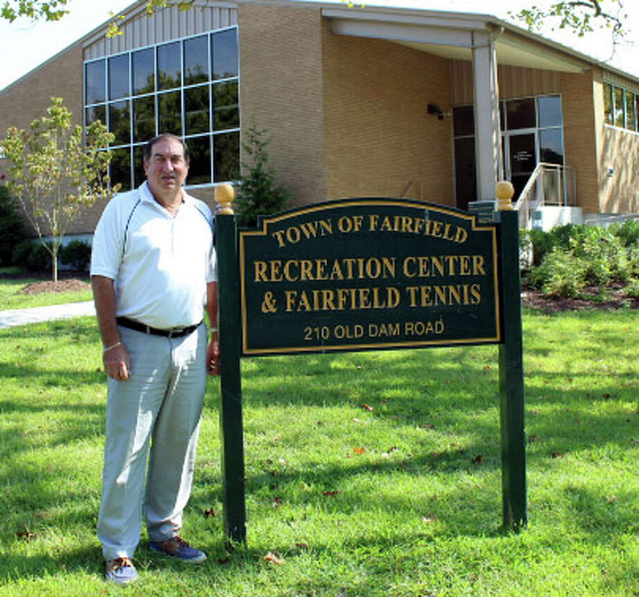 Recreation Director Gerry Lombardo stands in front of the recreation and tennis center on Old Dam Road, one of the hallmarks of his tenure with the town. Fairfield, CT. 9/9/16 Photo: Genevieve Reilly / Hearst Connecticut Media / Fairfield Citizen