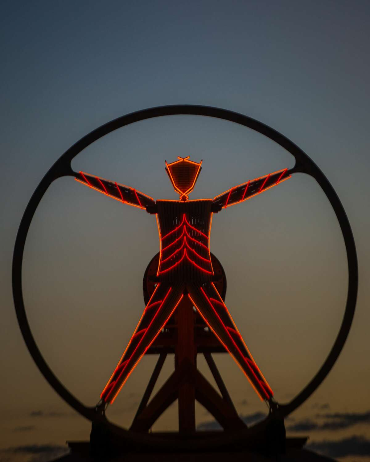 Artwork at Burning Man 2016, the largest outdoor arts festival in North America, in the Black Rock desert of Gerlach, Nevada. (