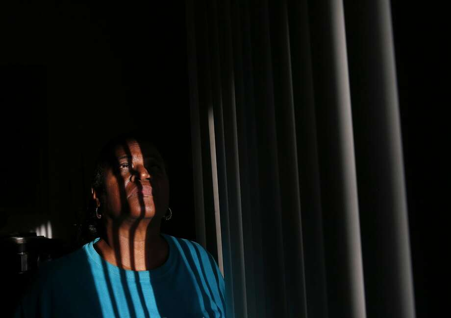 Sharon Brown, 65, poses for a portrait in her apartment in the Creek View apartment complex Sept. 7, 2016 in El Sobrante, Calif. Residents of the complex, including Brown, were served with eviction papers telling them to vacate by the end of the month. Photo: Leah Millis, The Chronicle